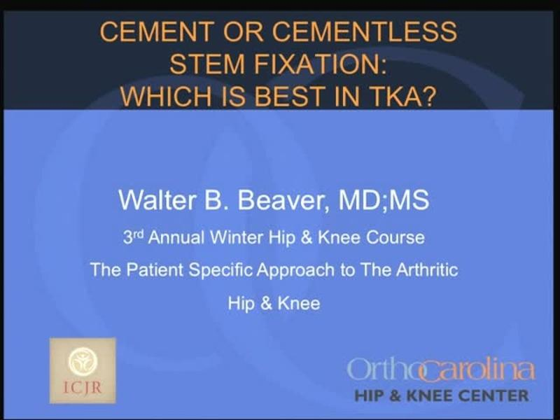 Cement or Cementless Stem Fixation - Which is Best in TKA