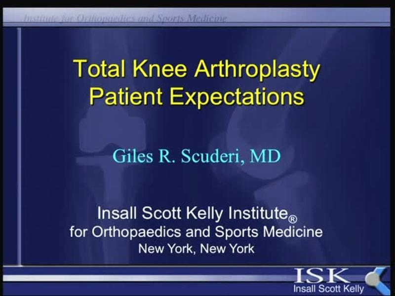 Total Knee Arthroplasty Patient Expectations