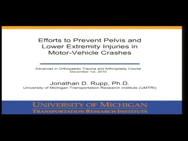 Efforts to Prevent Pelvis and Lower Extremity Injuries in Mo