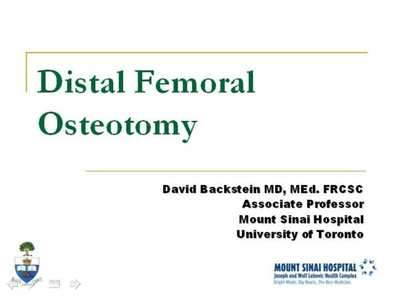 Femoral Osteotomy - Indications, Technique, Outcomes