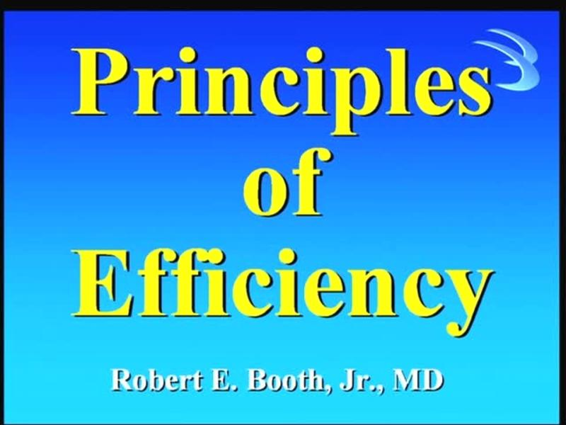 Principles of Efficiency