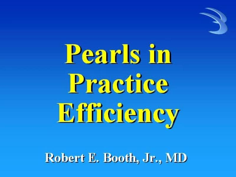 Pearls in Practice Efficiency in Joint Arthroplasty