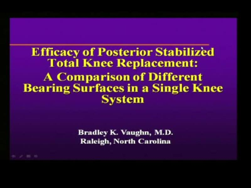 Efficacy of Posterior Stabilized Total Knee Replacement - A