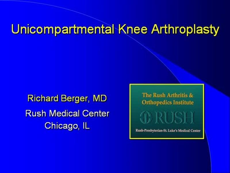 Medial Unicondylar Knee Replacement