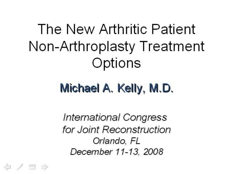 Knee Non-arthroplasty Treatment Case Presentations and Discu