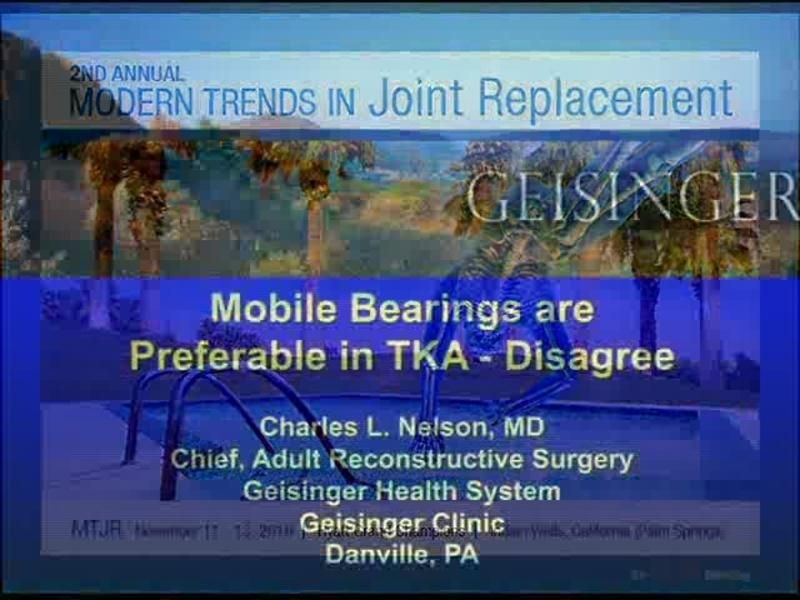Mobile Bearings are Preferable in TKA - Disagree