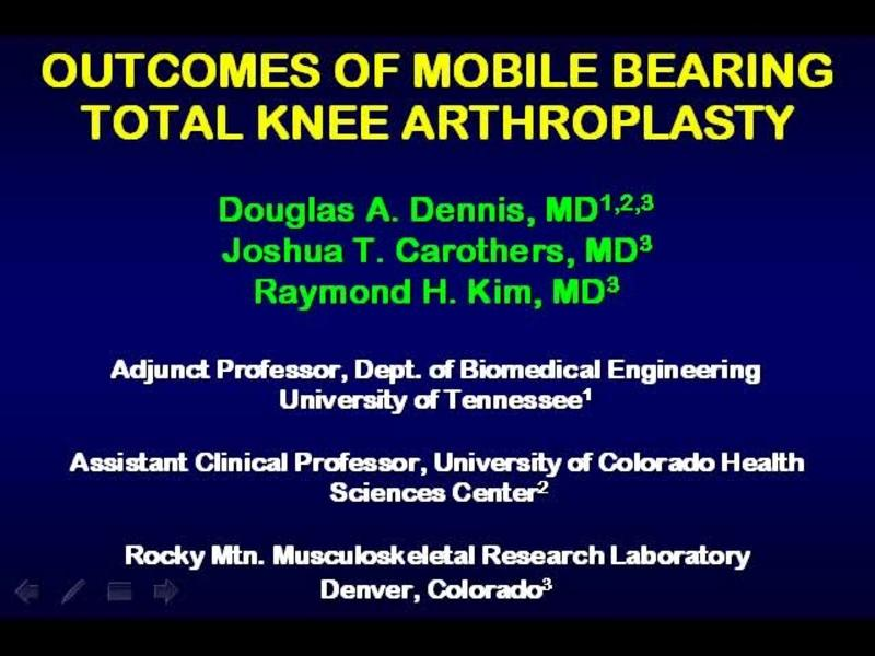 What Is the Evidence-Based Data for Mobile Bearing Knees