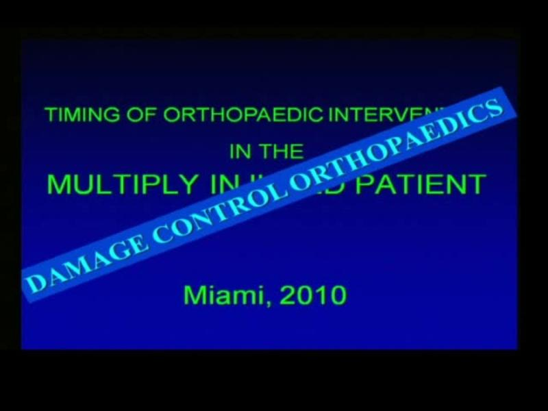 Damage Control Orthopaedics