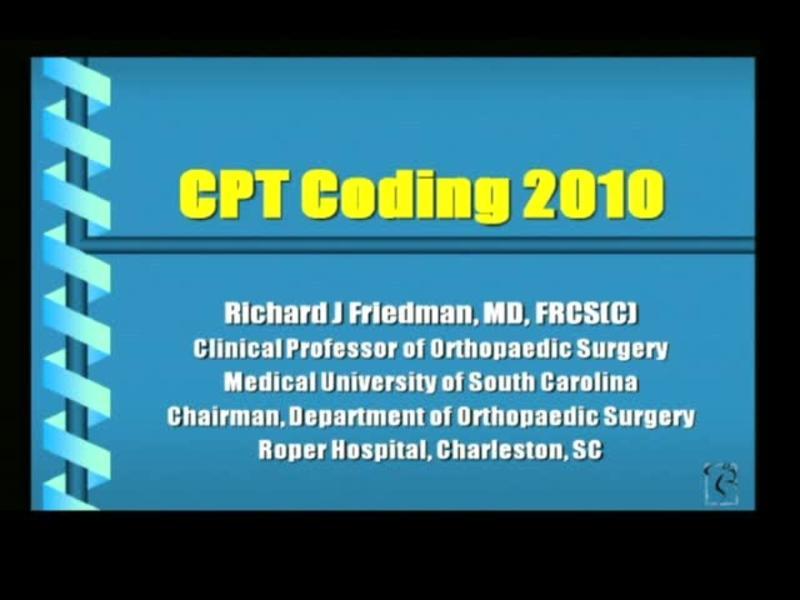 CPT Coding 2010