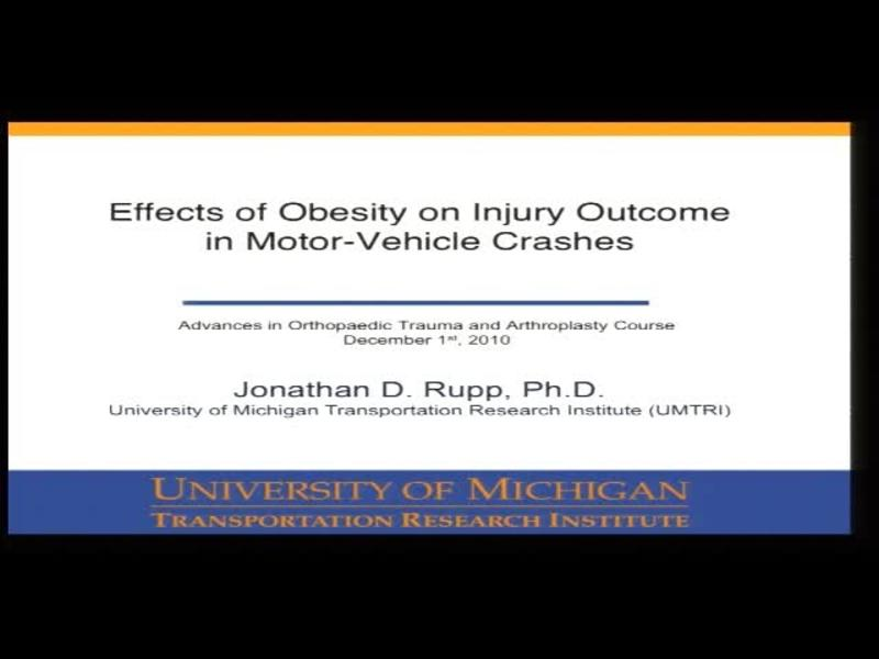 Effects of Obesity on Injury Outcome in Motor-Vehicle Crashe