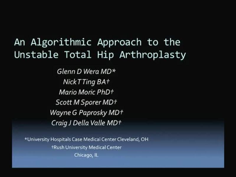 An Algorithmic Approach to the Unstable Total Hip Arthroplas