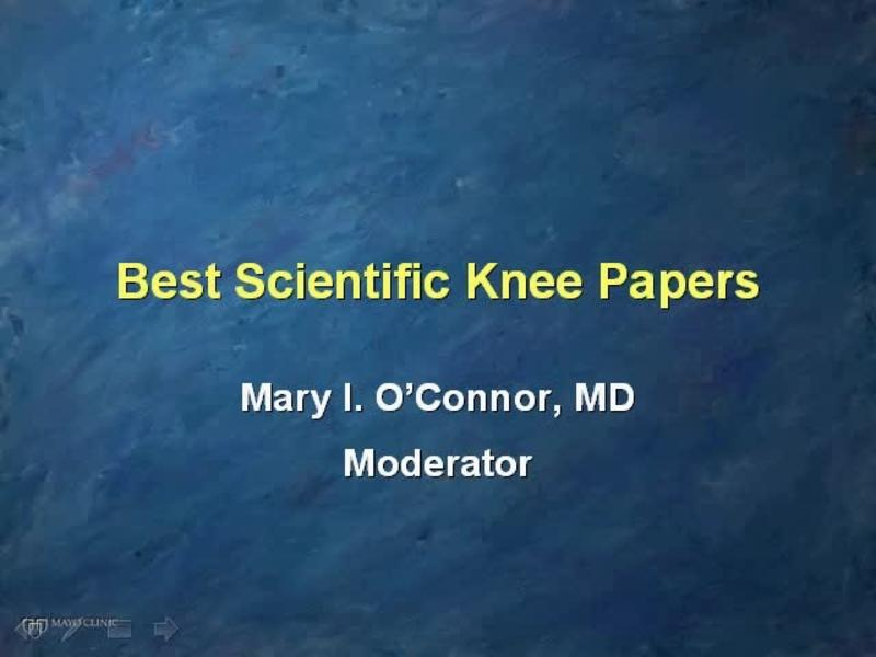 Outstanding Scientific Knee Papers - Discussion