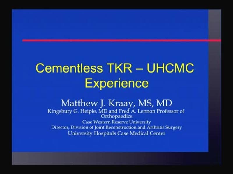 Cementless TKR - UHCMC Experience